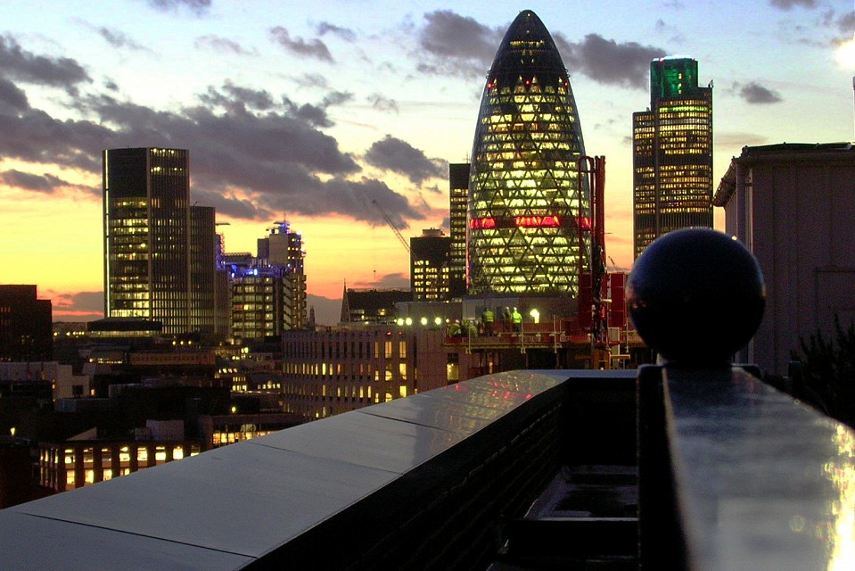 City from the roof - 30 St Mary Axe