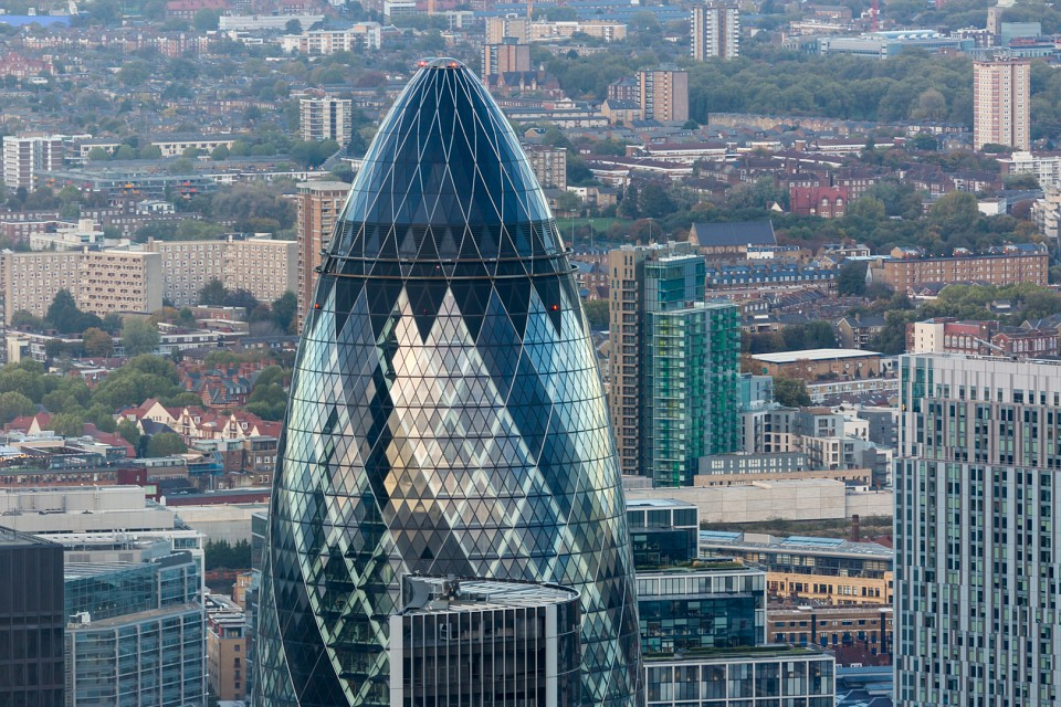Late Afternoon in the City - 30 St Mary Axe