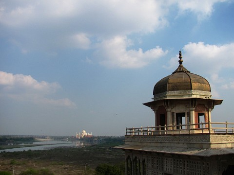 Taj Mahal viewed from the Agra Fort - Agra Fort