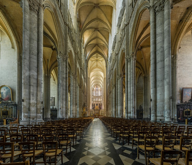 The nave of Amiens Cathedral, France - Amiens Cathedral