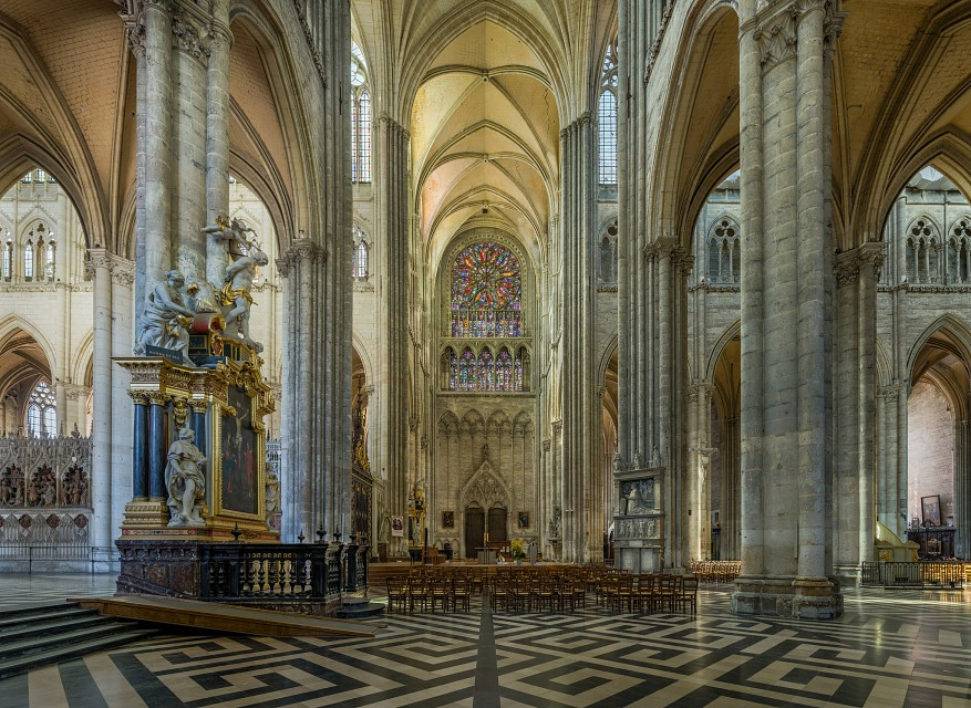 The north transept of Amiens Cathedral, France - Amiens Cathedral