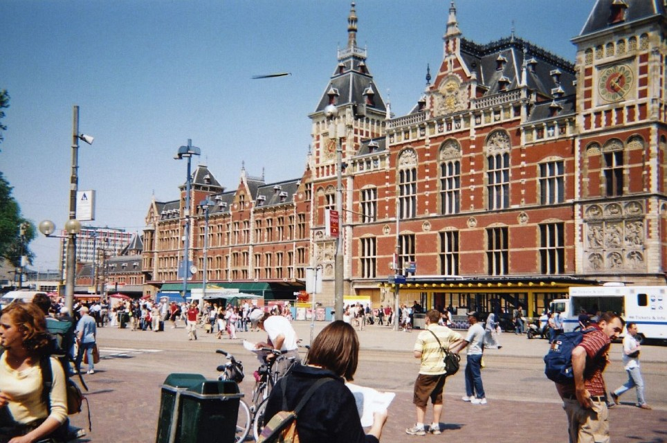 Amsterdam Centraal Station - Amsterdam central railway station - Amsterdam Centraal railway station