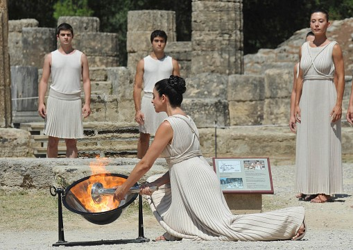 Flame Lighting Ceremony - Olympia, Greece - Ancient Olympia