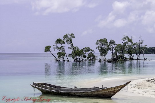 The Only Boat on the Beach - Andaman and Nicobar Islands