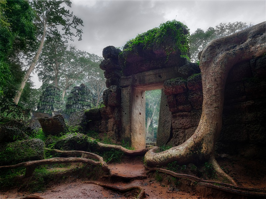 A Crumbling Passage - Angkor