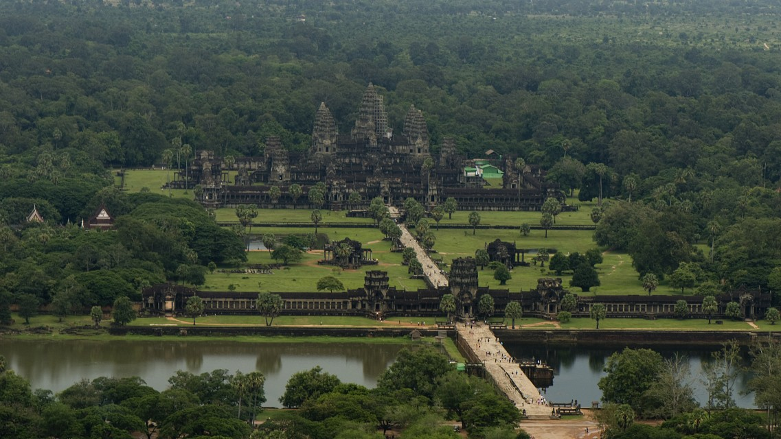 View of Angkor Wat from Balloon - Angkor Archaeological Park