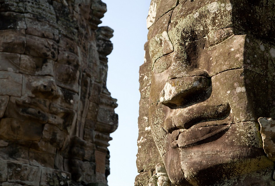 Faces at Angkor Thom -