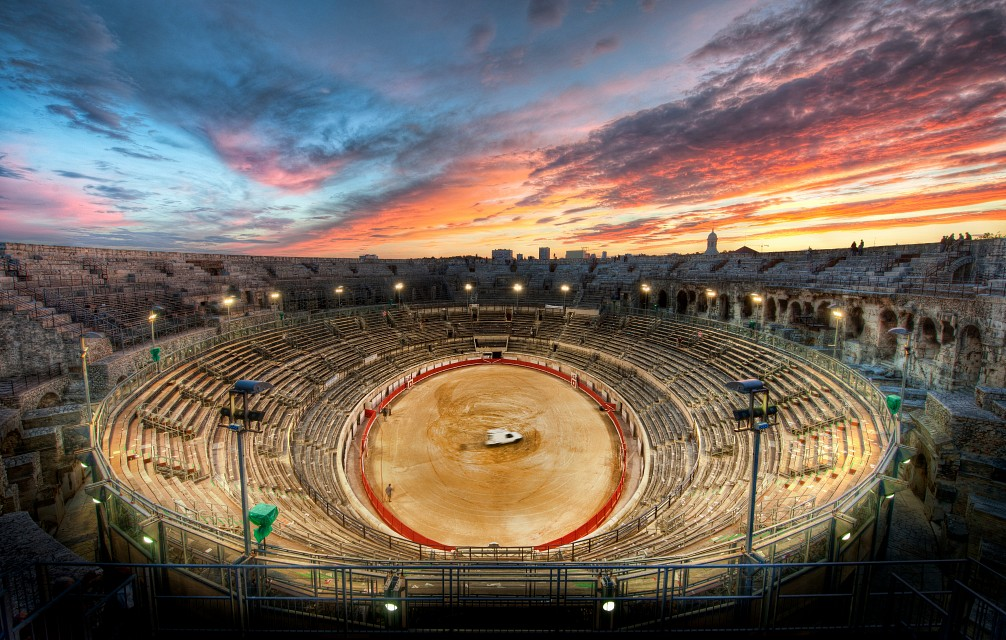 The Gladiator Arena at Sunset - Arena of Nîmes