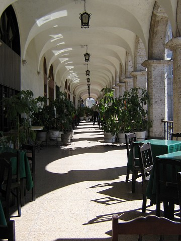 Hall in Arequipa's center -
