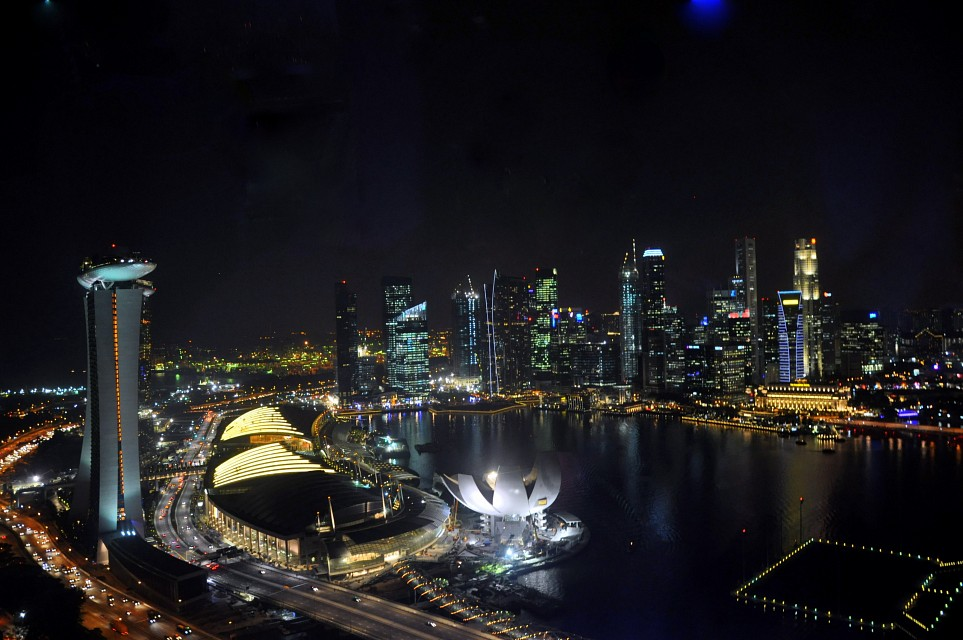 Night View from the Singapore Flyer - Asia