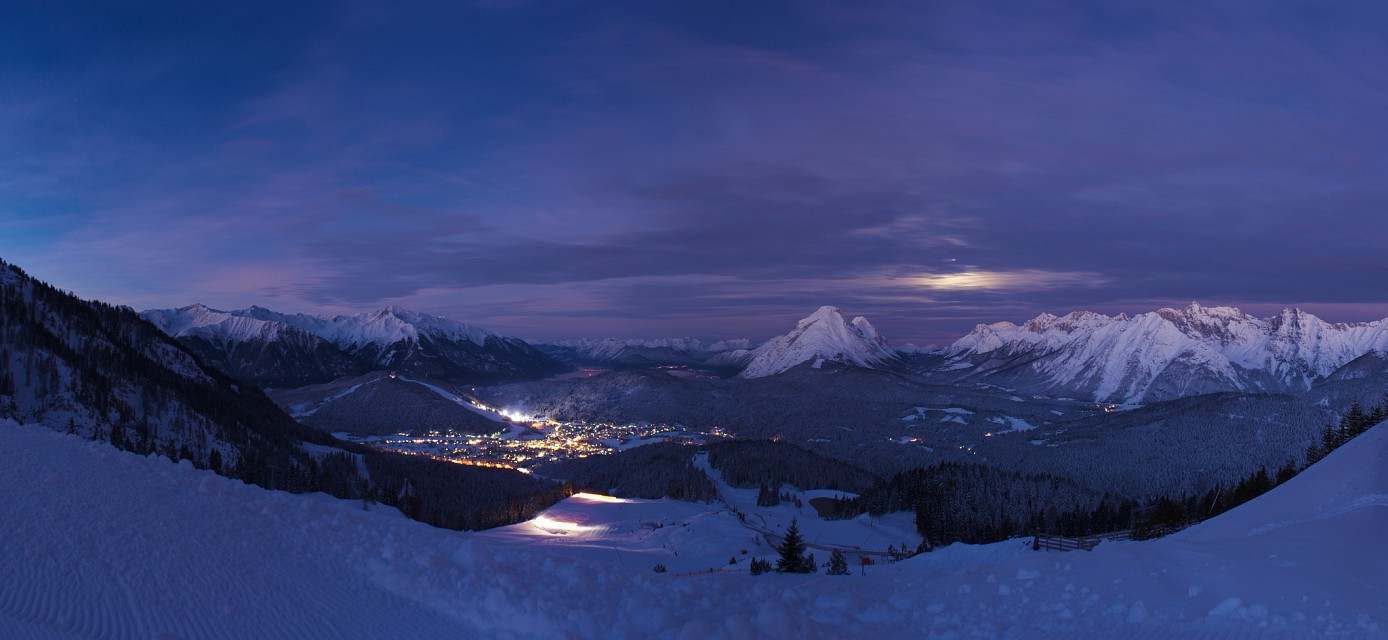 Seefeld winter panorama - Austria