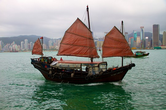 Hong Kong Junk Boat