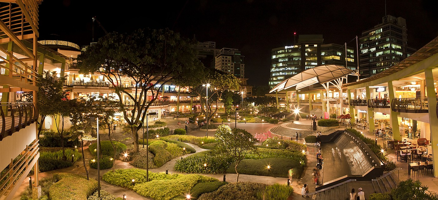 Ayala Terraces at night