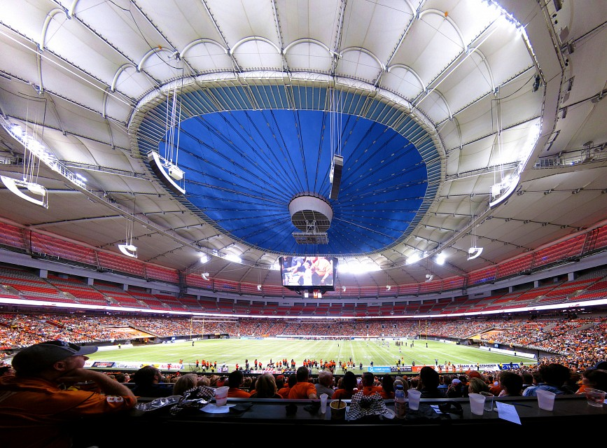 BC Lions Game, BC Place Stadium 2013 - BC Place