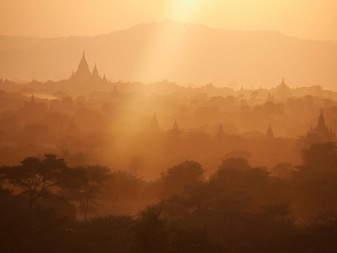 Sunset view Bagan -