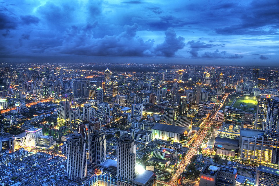 View from the observation deck - Baiyoke Sky Hotel