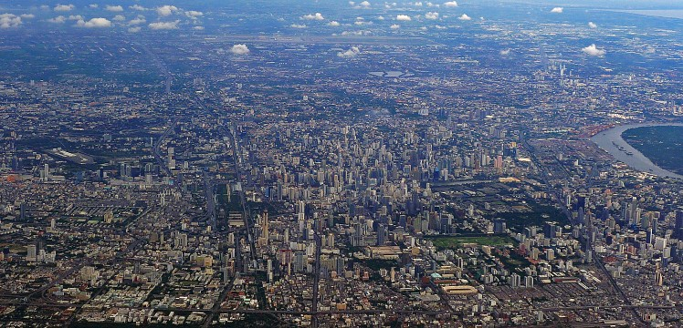 Sprawling Bangkok - Aerial,