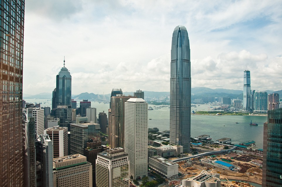 View from the Bank of China Tower towards 2IFC Tower - Bank of China Tower