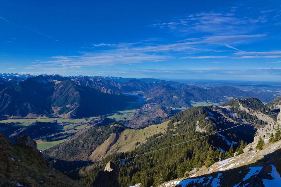 On Wendelstein mountain looking to the West in Bavaria, Germany - Bavaria