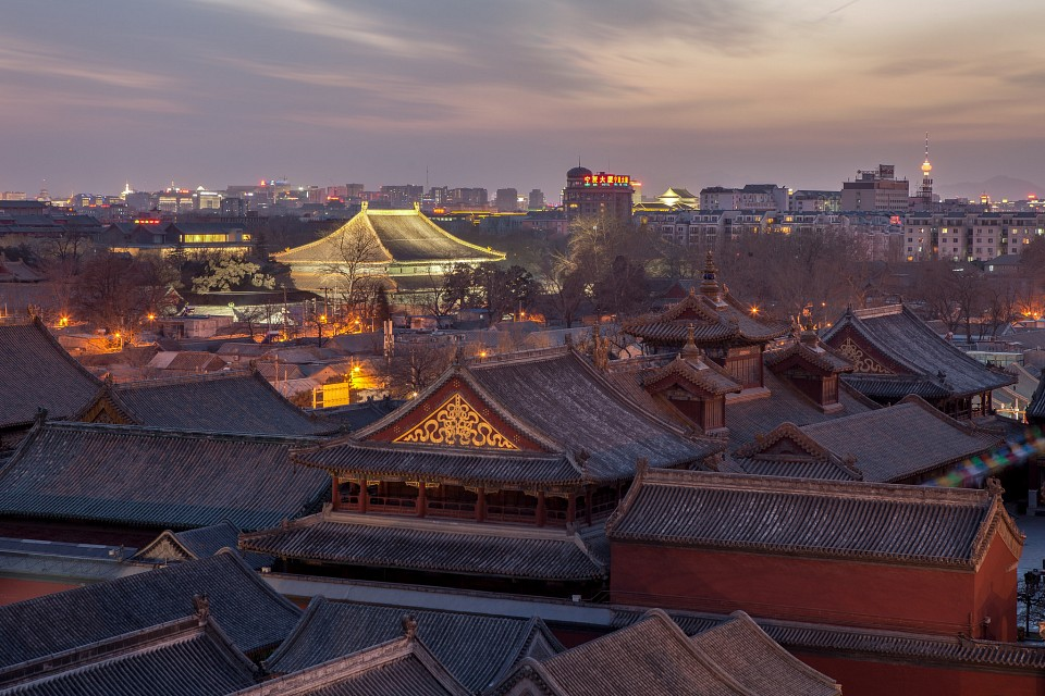 Rooftops near Lama Temple and Temple of Confucius in Beijing - Beijing