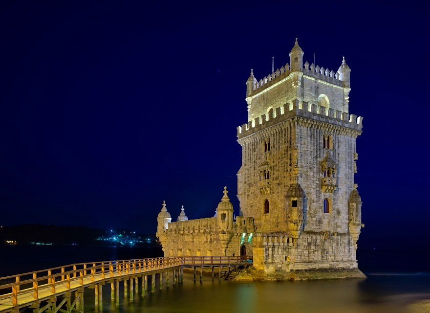 Torre de Belem at night - Belém Tower