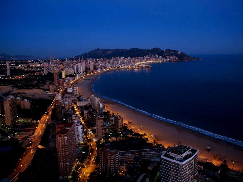 Benidorm at night from Gran Hotel Bali - Benidorm