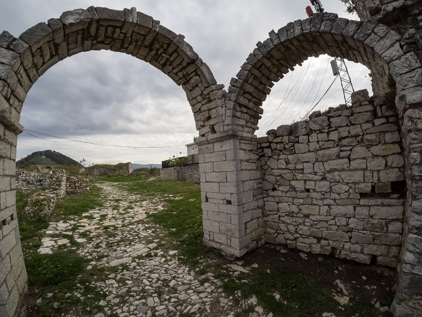 Arches at Berat Castle - Berat Castle