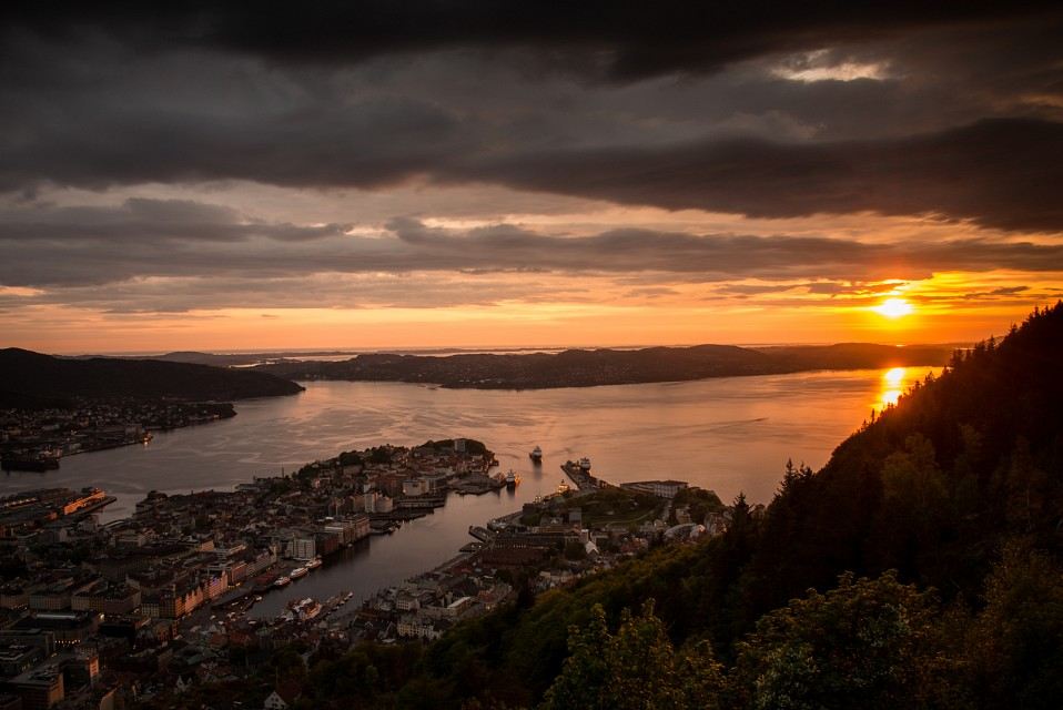 Quiz: Bergen Sunset -