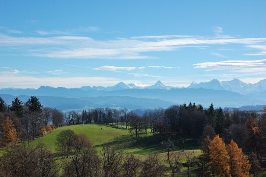 The Alps from Gurten -