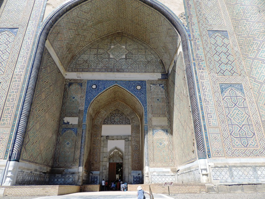 Bibi-Khanym Mosque Main Entrance, Samarkand, June 2015 - Bibi-Khanym Mosque