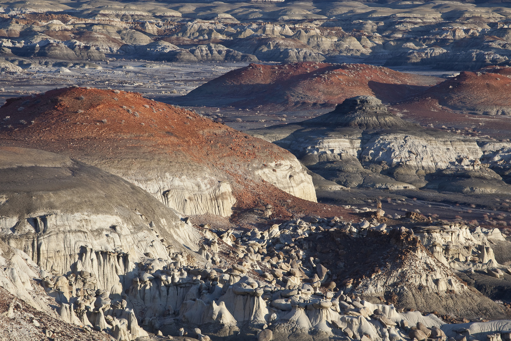 bisti  de-na-zin wilderness - geological feature in new mexico
