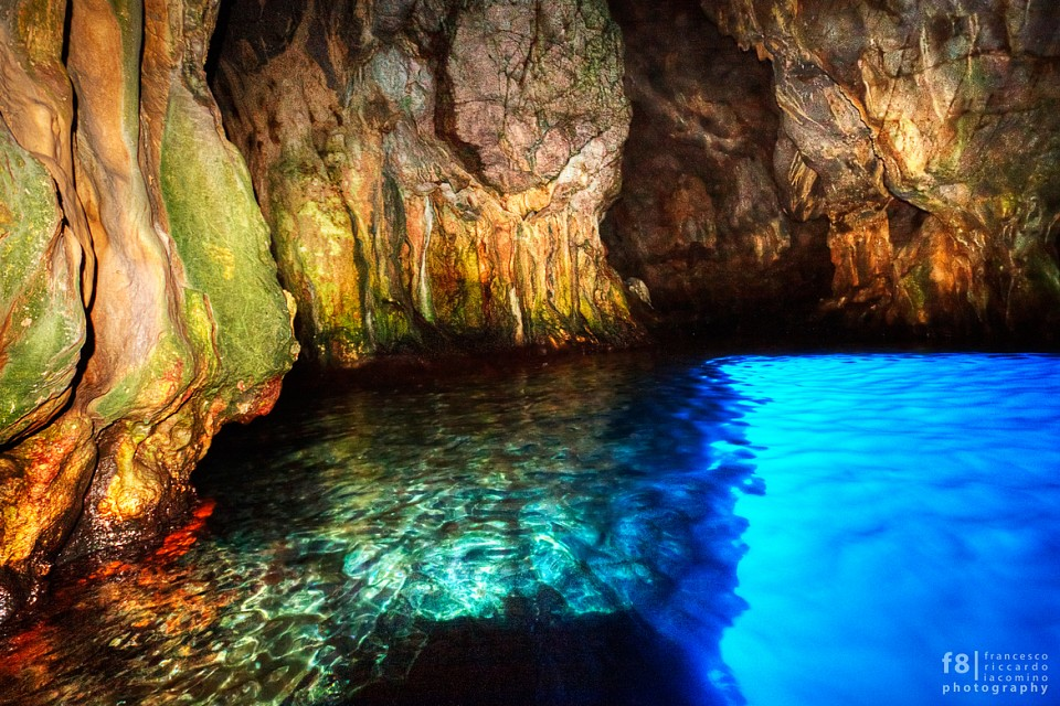 Blue Grotto. Cave in Italy, Europe