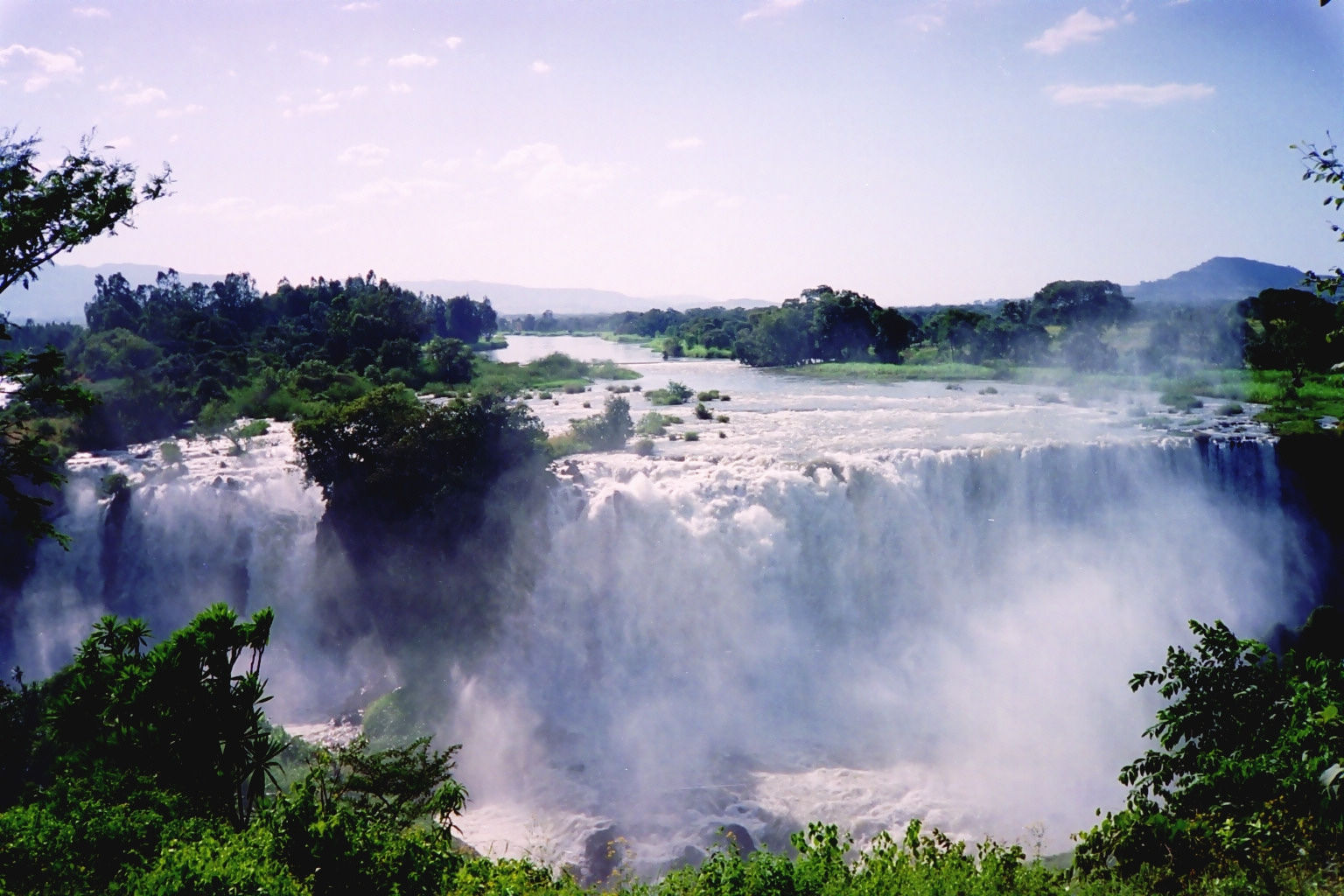 blue nile falls waterfall in ethiopia thousand wonders