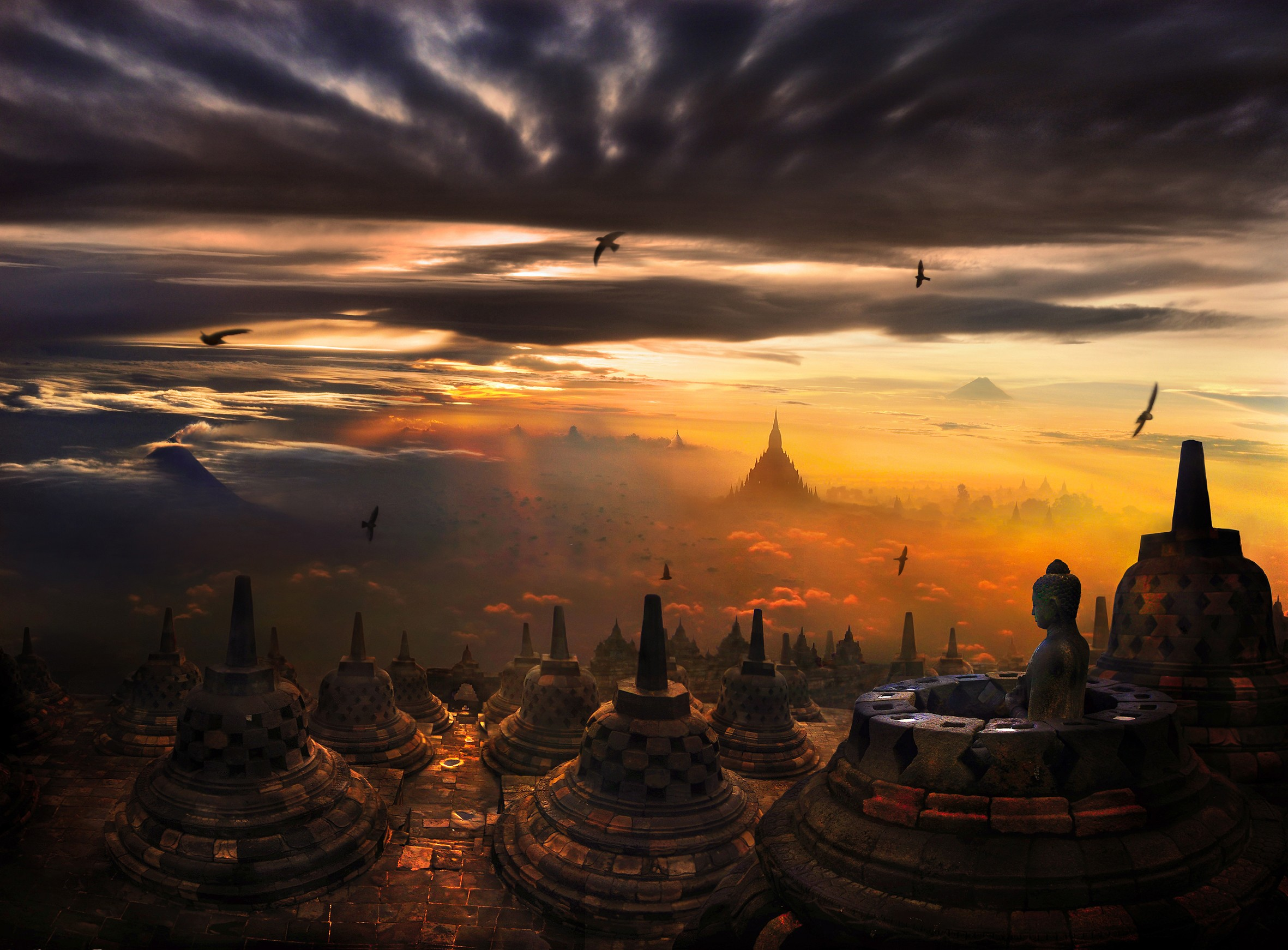 Borobudur temple in indonesia thousand wonders - Le photograph ...