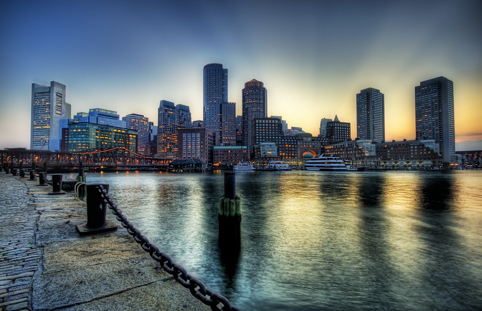 Boston on the Fringe of Sunset - Boston