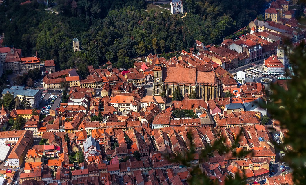The Black Church and Old City of Brasov, Romania - Brașov