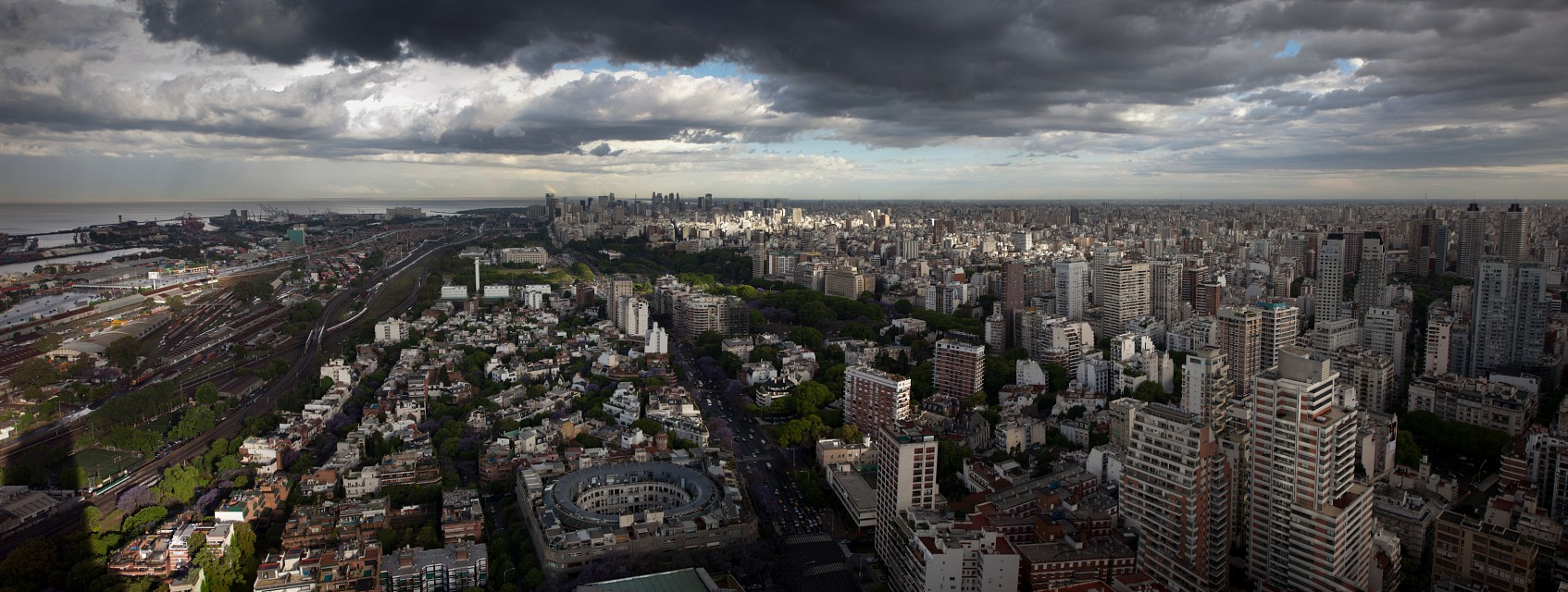Buenos Aires Skyline in Color   111109-2-jikatu - Buenos Aires