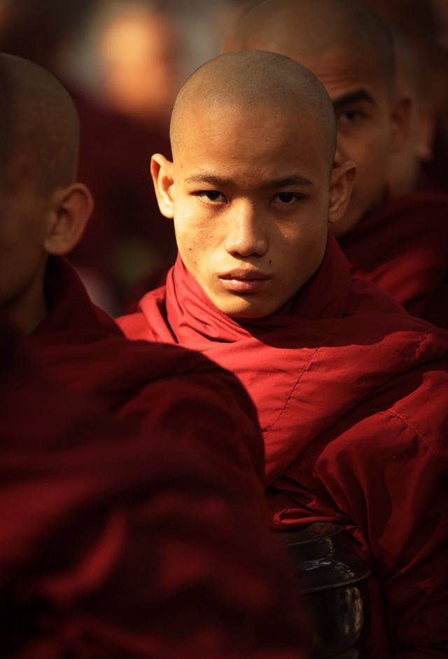 Myanmar, monks and novices - Burma