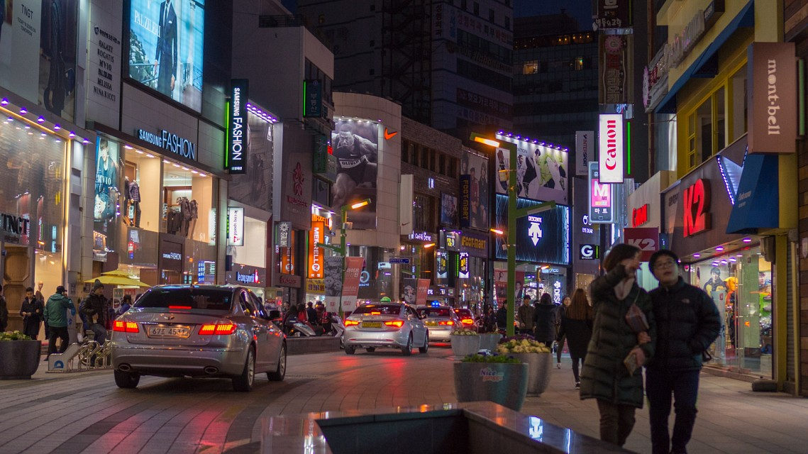 Busan street at night - Busan