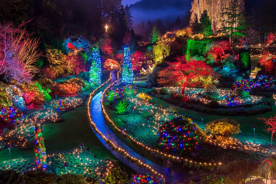 Buchart Gardens Christmas Lights - Butchart Gardens