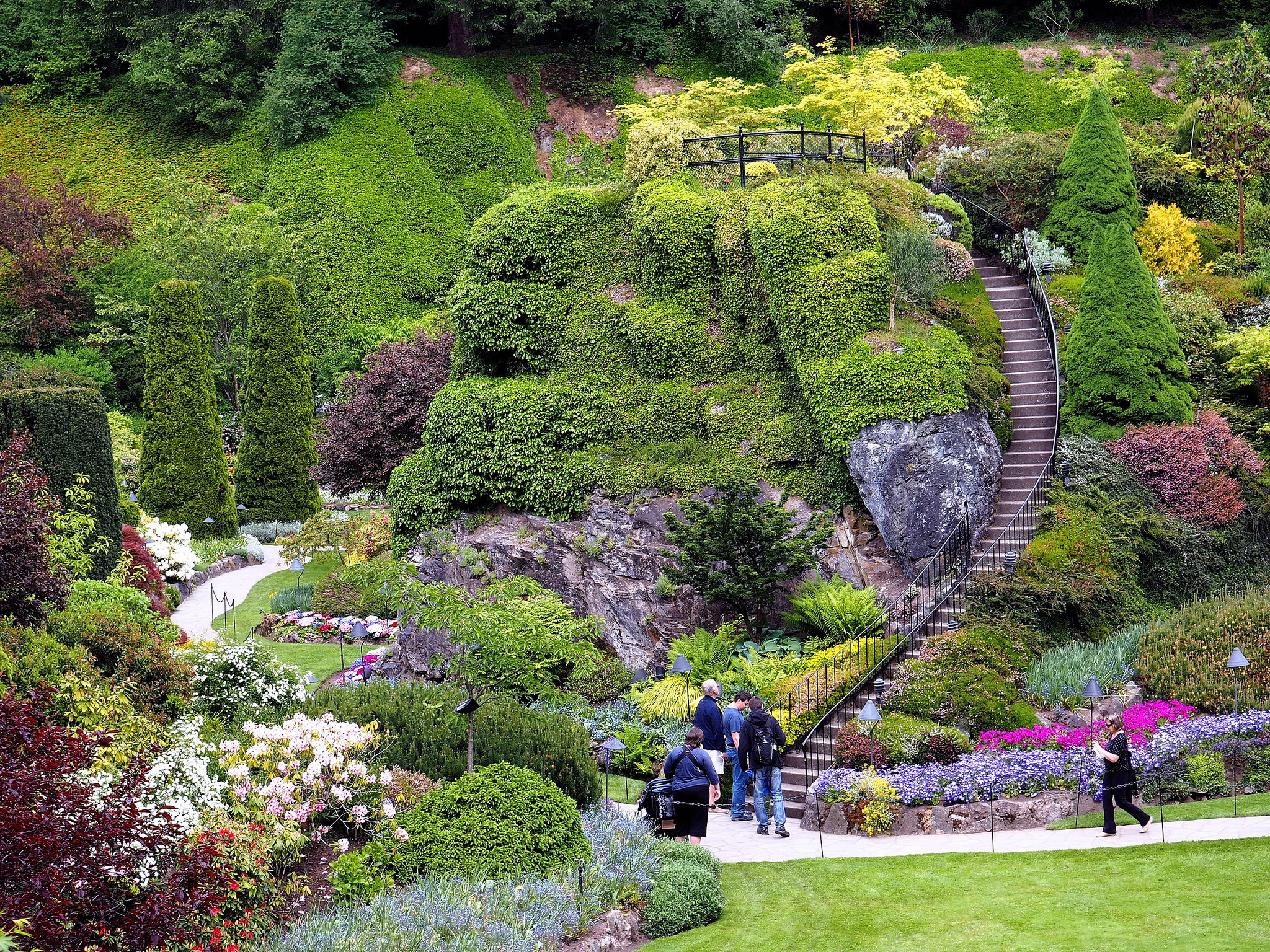 Butchart gardens urban park in victoria thousand wonders for Garden pictures