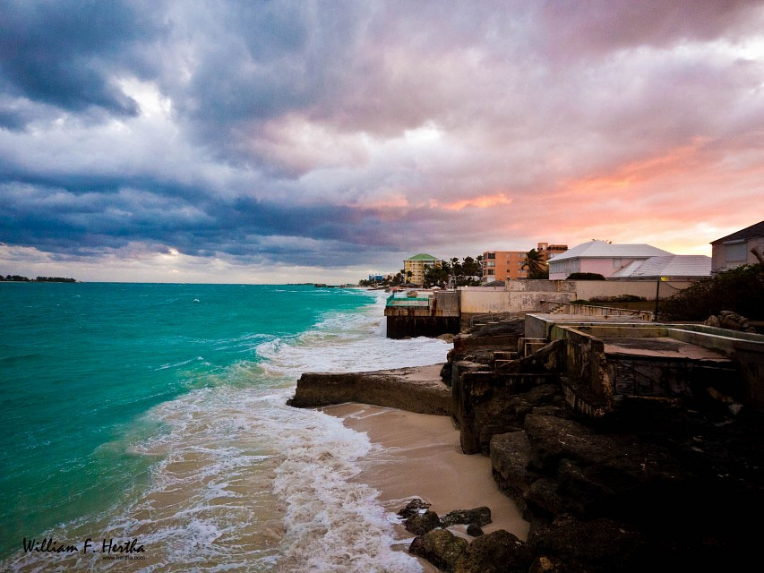 Stormy Sunrise in Nassau - Cable Beach