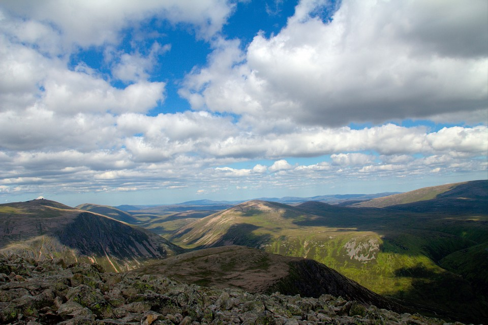 Looking down from Derry Cairngorm - Cairngorms National Park
