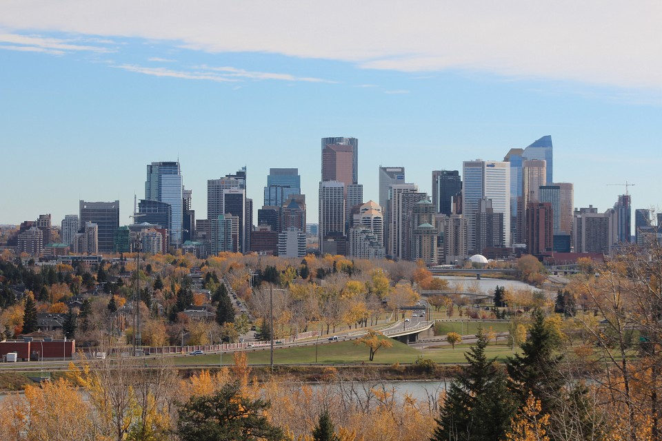 The city of Calgary from a different spot. - Calgary
