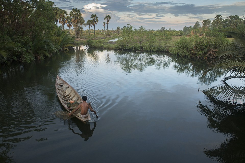 Tranquil fishing - Cambodia