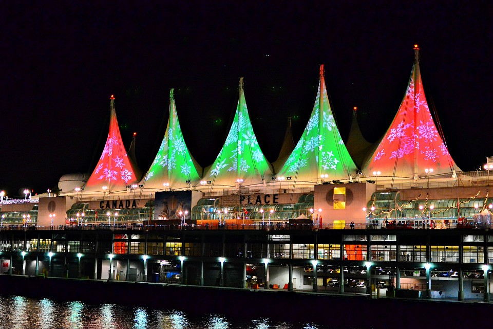 Canada Place Christmas Sails - Canada Place