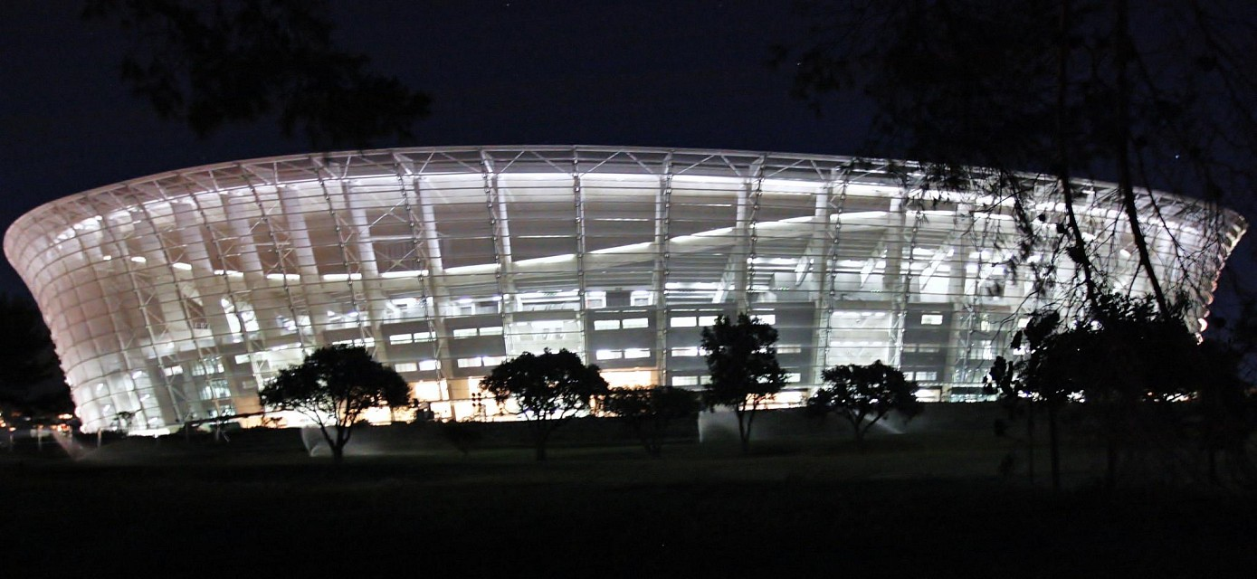 World Cup Stadium 2010, Cape Town, South Africa by night - Cape Town Stadium