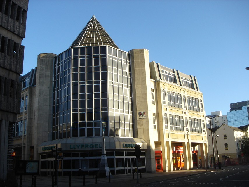 Cardiff Central Library | St David's Link | South Glamorgan - Cardiff Central Library