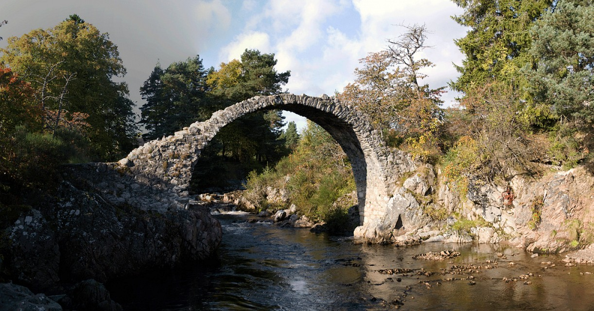 The  bridge at Carrbridge - Carrbridge