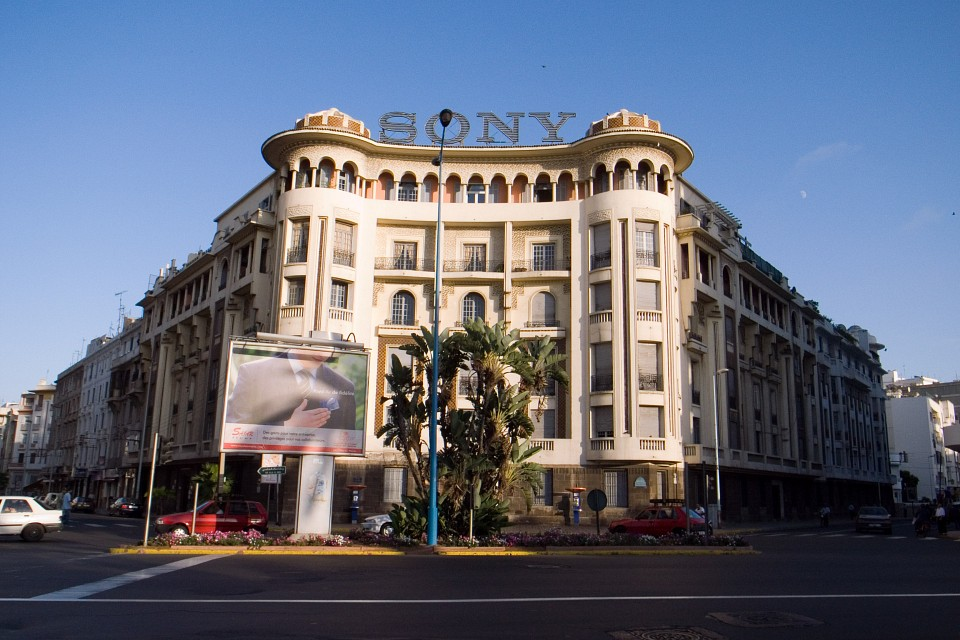 """Sony"" Building at the crossing of street Hassan II and street Moulay Youssef - Casablanca"